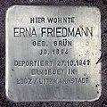 Stolperstein Petzower Str 13 (Wanns) Erna Friedmann.jpg