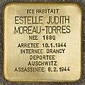 Stolperstein für Estelle Judith Moreau-Torres (Libourne).jpg