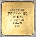 Stolperstein für Leo Benedikt 2018 (Graz).jpg