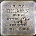 Stumbling stone for Gisela Herz (Georgsplatz 10)
