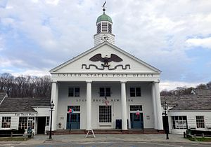Stony Brook, New York - The local post office, centerpiece of the Stony Brook Village Center