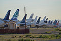 Stored airliners at Goodyear, Arizona (13136760414).jpg