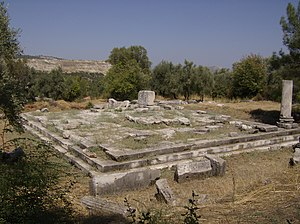Stratonicea (Caria) - The ruins of the sebasteion in Stratonicea