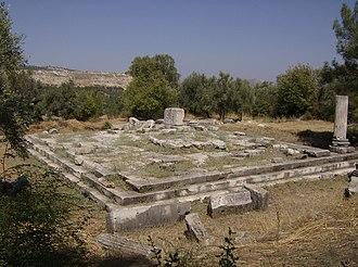 Stratonicea (Caria) - The ruins of the sebasteion in Stratonicea