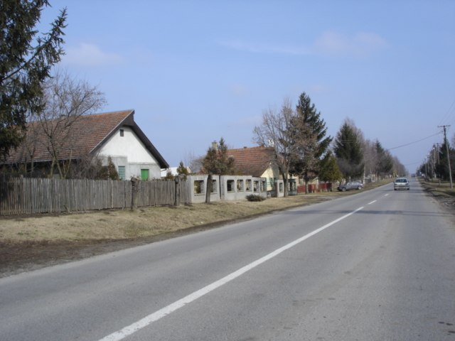 Street in Mala Bosna village, Vojvodina, Serbia - 20060223