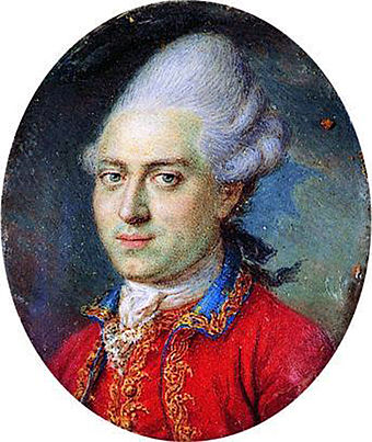 Denmark's minister Johann Struensee, a social reformer, was publicly executed in 1772 Struensee - miniature portrait.jpg