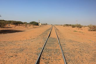 Rail transport in Sudan - Railway tracks at Meroë