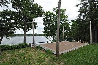 National Register of Historic Places listings in Hartford County, Connecticut - Image: Suffield CT Babbs Beach Platform