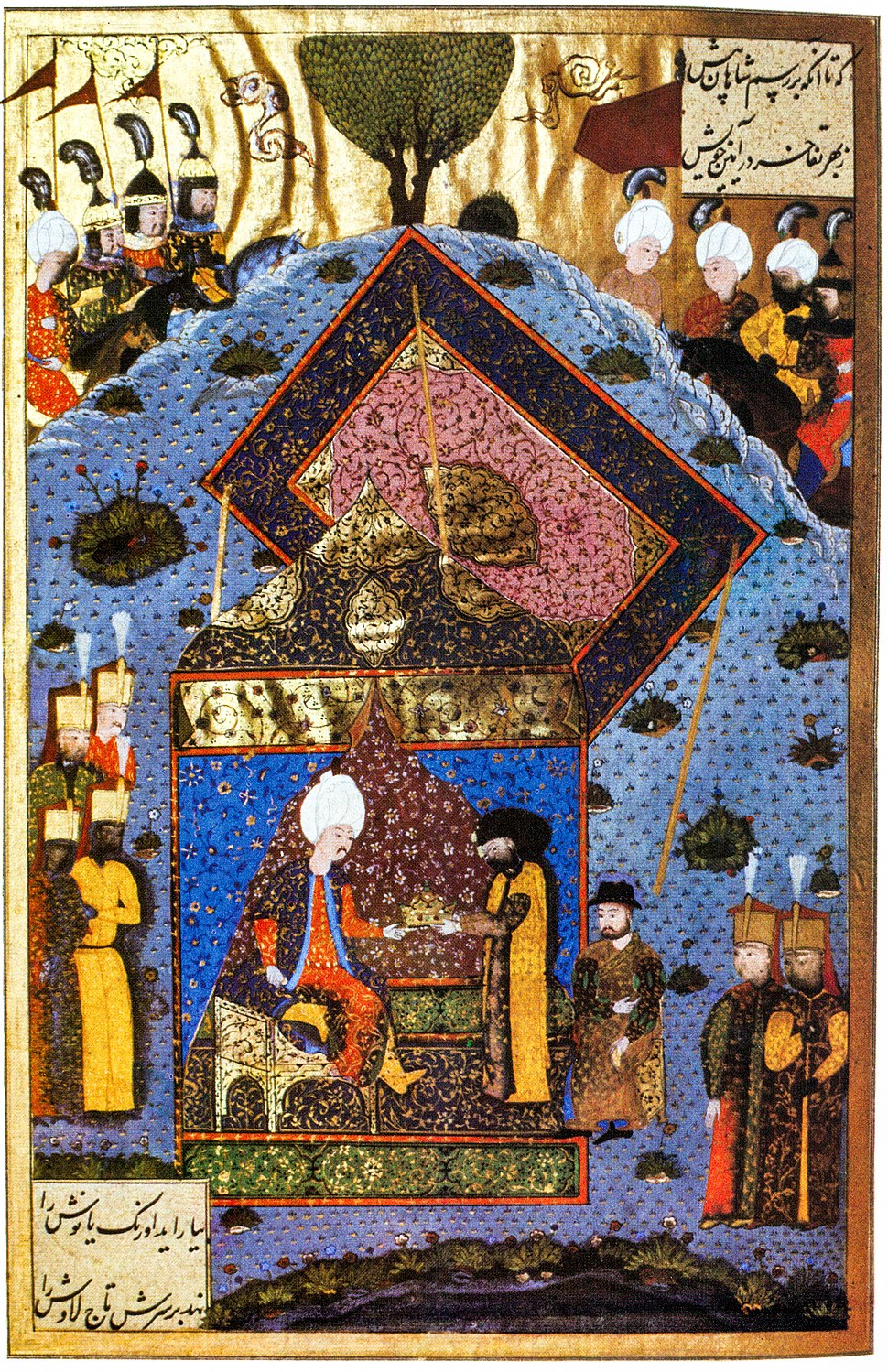 Suleiman gives back the Holy Crown to Szapolyai