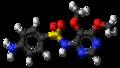 Sulfadoxine molecule ball.png