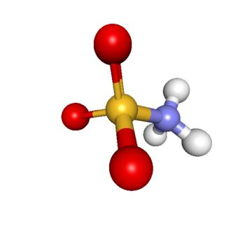Sulfamic acid - Image: Sulfamic acid zwitterion stick ball