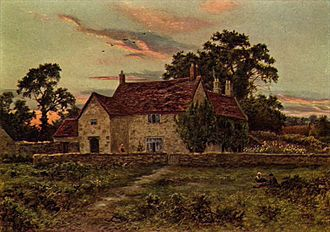 Sulgrave - Sulgrave Manor in 1910, before the west wing was reinstated