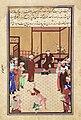 Sultan-Husayn Bayqara, possibly in conversation with Majd al-Din Muhammad Khvafi (original).jpg