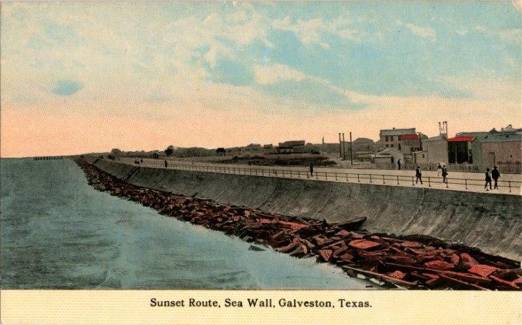 Sunset Route, Sea Wall, Galveston, Texas