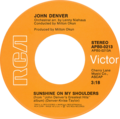 Sunshine on My Shoulders by John Denver 1974 US vinyl.png