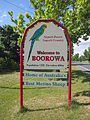 Superb parrot boorowa welcome sign.JPG