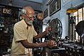 Sushil Kumar Chatterjee Maintains 35mm Film Portable Projector - Kolkata 2017-02-23 0490.JPG