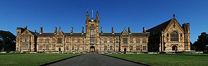 Robert Strachan Wallace - Image: Sydney University Main Building Panorama