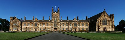The University of Sydney SydneyUniversity MainBuilding Panorama.jpg