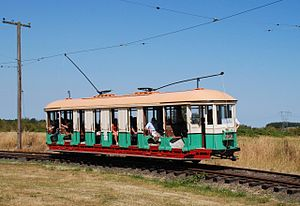 Oregon Electric Railway Museum - 1912-built car 1187 in service at the museum in 2010