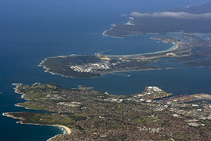 Kurnell, New South Wales - Kurnell peninsula from air