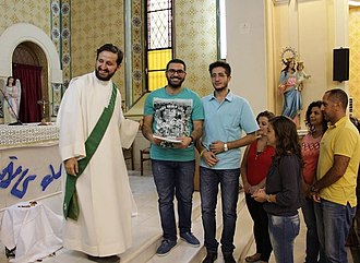 Christianity in Syria - Syrian Christians in a church in Damascus 2017