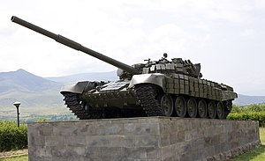 Armed Forces of Belarus - Image: T 72 Tank memorial Stepanakert