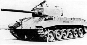 T20 Medium Tank - T20E3, which replaced the T20's HVSS with torsion bar suspension