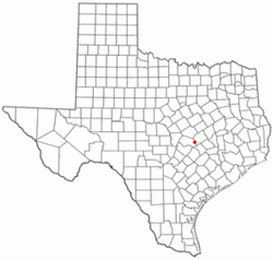 Location of Thrall, Texas