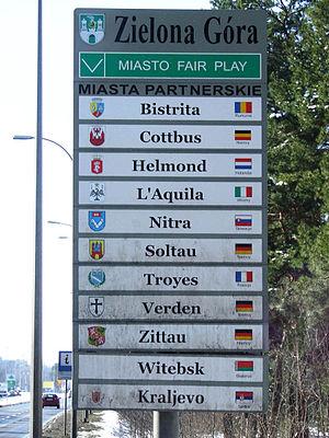 Zielona Góra - Zielona Góra's twin towns