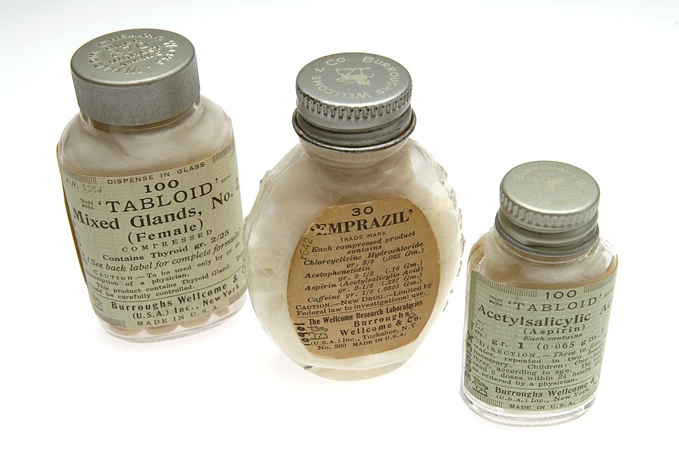 Tabloid products; Burroughs Wellcome and Company Wellcome L0041219