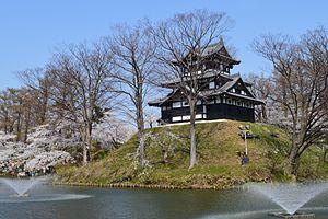 Takada Domain - Corner Yagura of Takada Castle, the administrative centre of Takada Domain