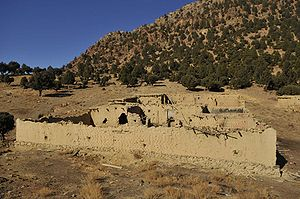 Al-Qaeda safe house - The ruins of a reported Taliban safe house in Khost destroyed by American and Afghan troops in December 2009.