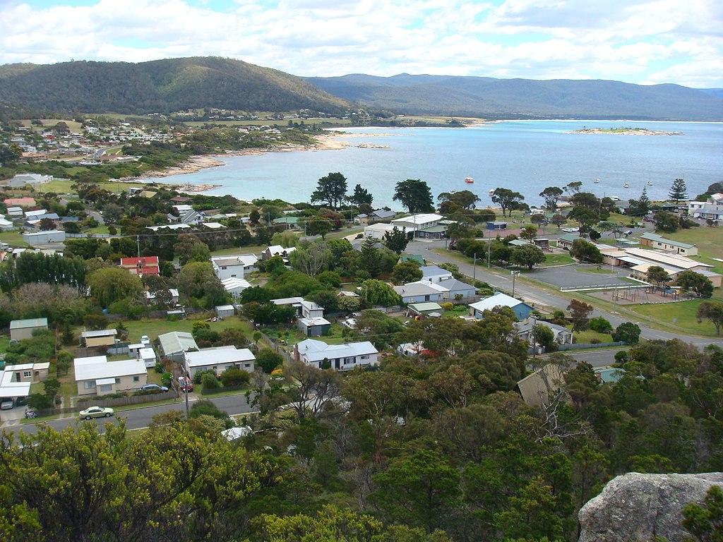 Tasmania bicheno town view
