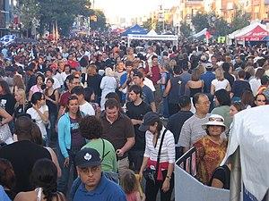 Greektown, Toronto - Flavours from around the world tempt crowds at Taste of the Danforth.
