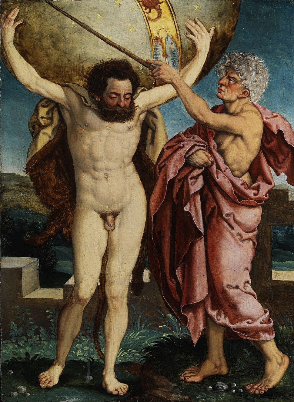 Taten des Herakles dt 16Jh Atlas