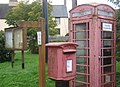 Telephone box and postbox, Molesworth - geograph.org.uk - 962006.jpg