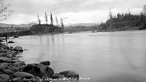 Bulkley Valley - Bulkley Valley. Confluence of the Telkwa and Bulkley Rivers, 1909