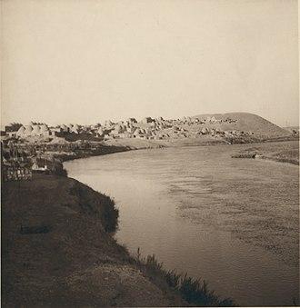 Tell Tamer - Image: Tell Tammar on the Khabur
