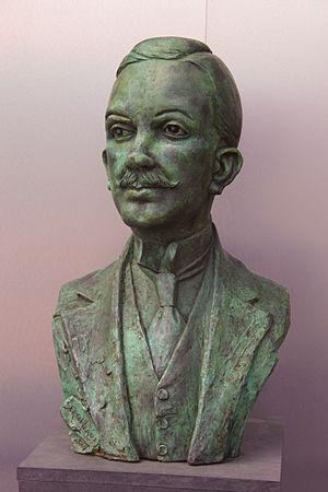 Manuel Gamio - Statue at Templo Mayor, Mexico City