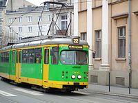 Temporary tram line 22 in Poznan (2).JPG