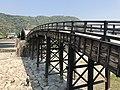 Tenshu of Iwakuni Castle and Kintaikyo Bridge 3.jpg