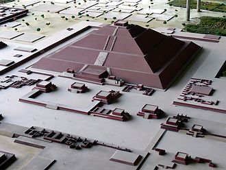 Toltec Empire - A reconstruction of Teotihuacán's Pyramid of the Sun