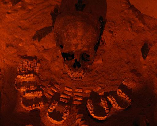 Teotihuacan-Entierro de la pirámide de la Serpiente Emplumada