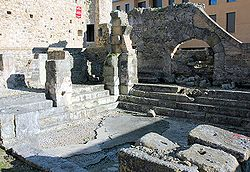 Ancient Roman bath in the municipality