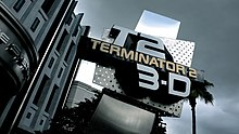 Terminator 2 in 3D sign in front of the entrance to the Universal Studies in Florida