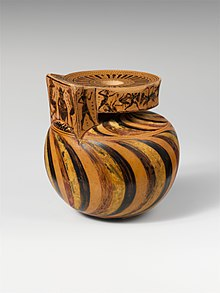 Terracotta aryballos (oil flask) MET DP218738.jpg