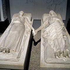 Mausoleo de los amantes en la iglesia de San Pedro de Teruel.