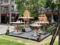 Thai spirit house at a hotel in bangkok ศาลพระภูมิ ศาลเจ้าที่.jpg