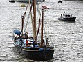 Thames barge parade - through Tower Bridge into the Pool - Gladys 6684.JPG